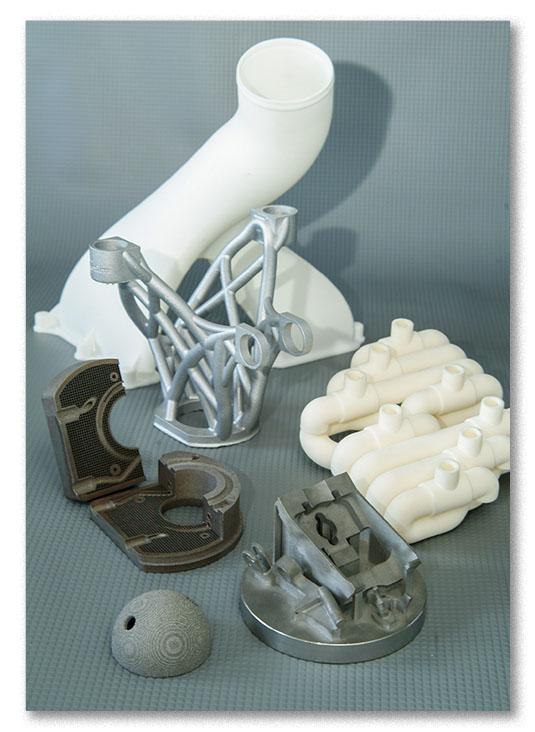 pièces fabriquées via la fabrication additive